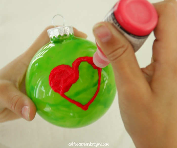 Grinchs Heart Christmas Ornament Coffee Cups And Crayons