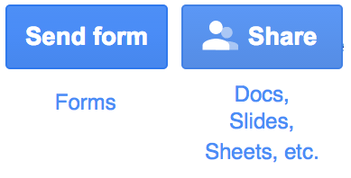 Send form and share buttons