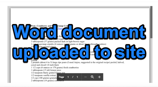 Word Doc Uploaded