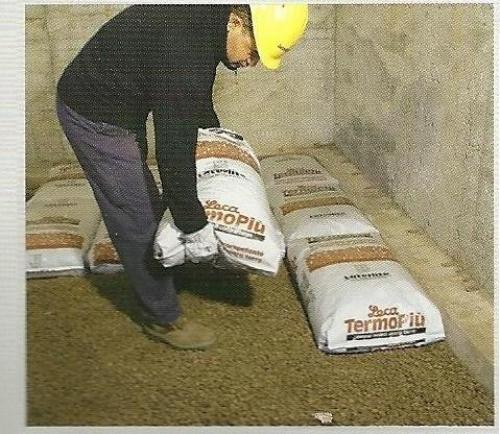Argilla espansa in sacchi per vespai ad isolamento termico