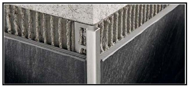 Profili tecnici metallici di rifinitura per rivestimenti e