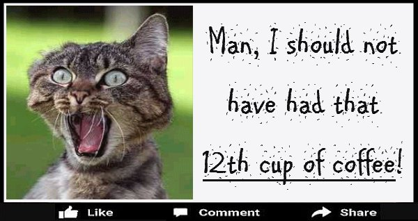 Man I Should Not Have Had That 12th Cup of Coffee