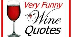 Very Funny Wine Quotes