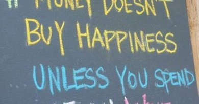 Money does not buy you happiness unless you spend it on wine
