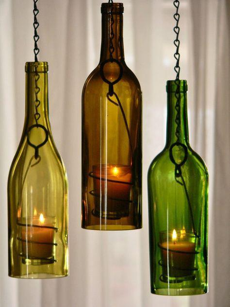 Diy wine bottle candles easy diy instructions on how to for How to make candle holders out of wine bottles