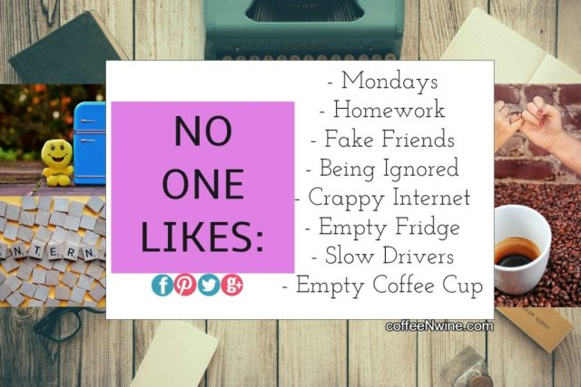 No One Likes an Empty Cup of Coffee