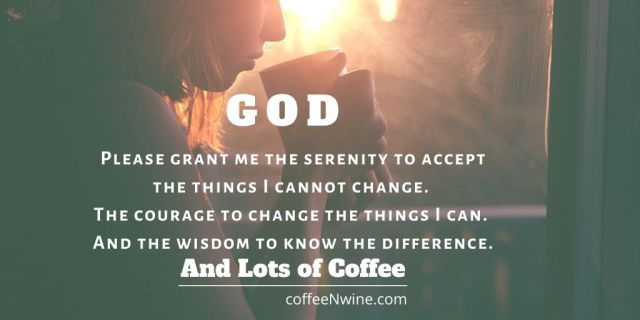Coffee Serenity Prayer Image