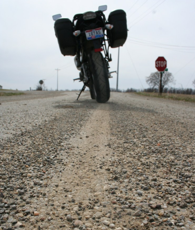 gravel on road