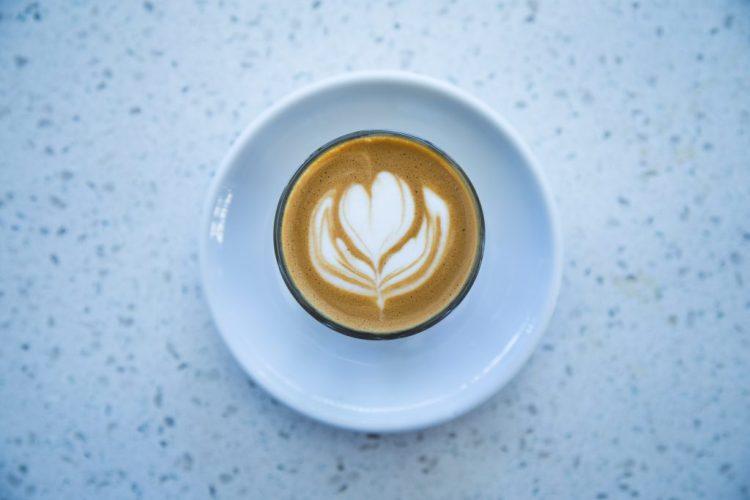 Latte Art Flower Shape