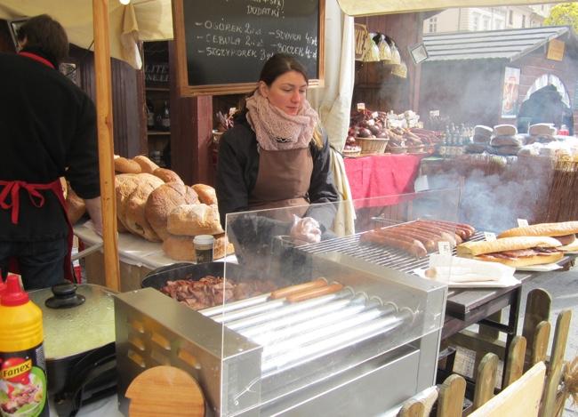 krakow easter market polish sausage