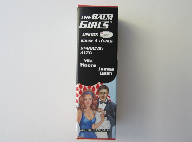 thebalm the balm girls lipstick mia moore packaging