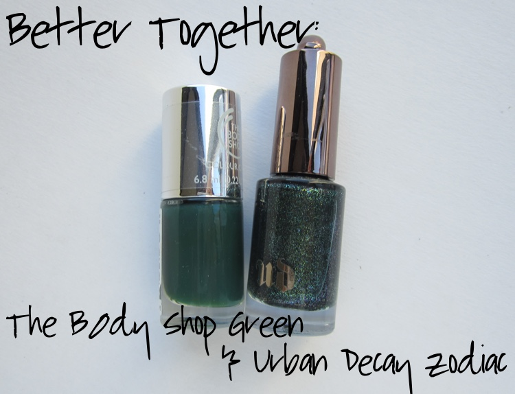 better together notd the body shop green urban decay zodiac