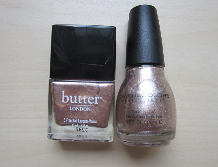 butter london champers vs sinful colors supernova