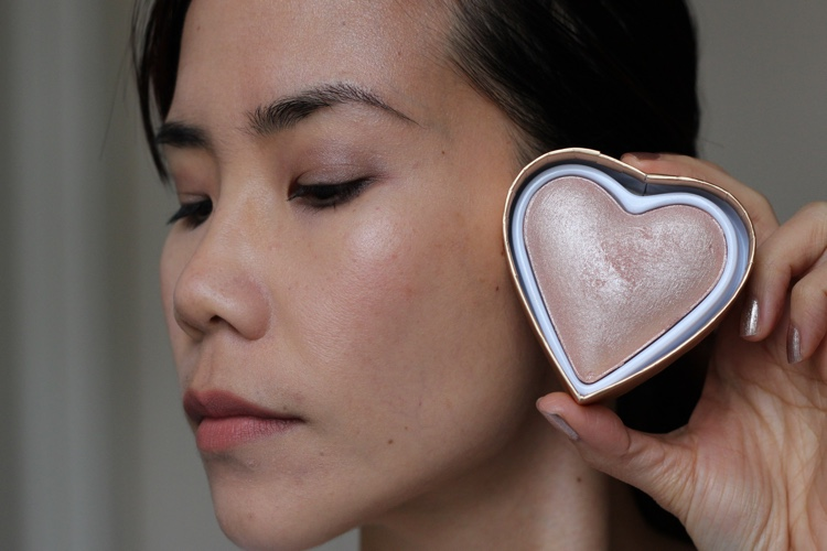 heart makeup blushing hearts highlighters goddess of faith