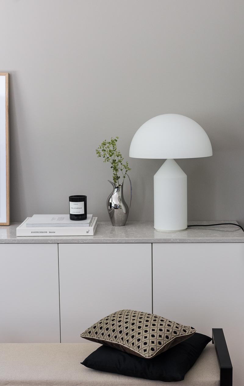 Finnish Design Shop lahjakortti, arvonta, Oluce Atollo 237 design-valaisin, klassikko pöytävalaisin Coffee Table Diary blogi