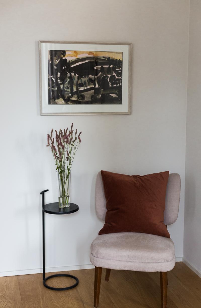 taidetta huutokaupasta, Nandor Mikola akvarelli, Bukowski's, Slettvoll Tukholma sisustusliike