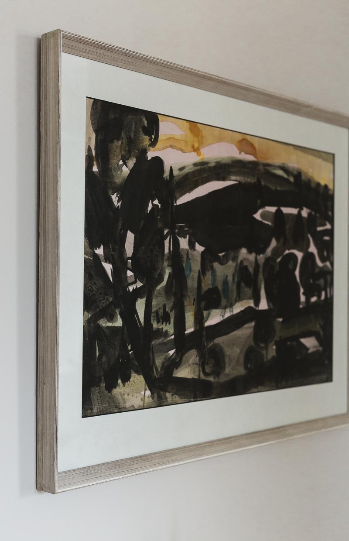 taidetta huutokaupasta, Nandor Mikola akvarelli, Bukowski's