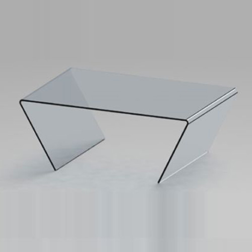 Contemporary Minimalist Coffee Table In Clear Glass