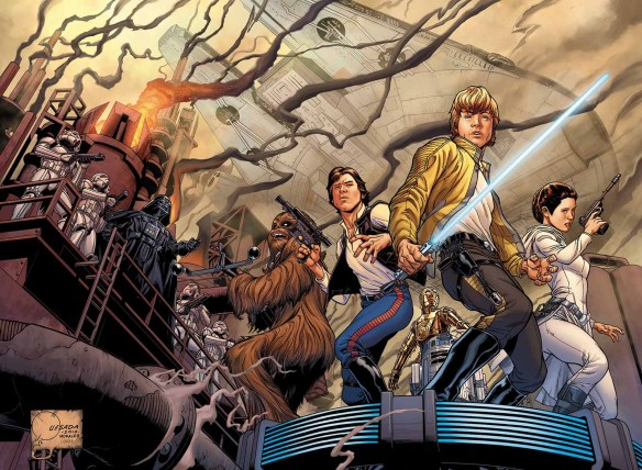 """Star Wars"" No. 1 variant cover illustrated by Joe Quesada. (Image courtesy of Marvel Entertainment)"
