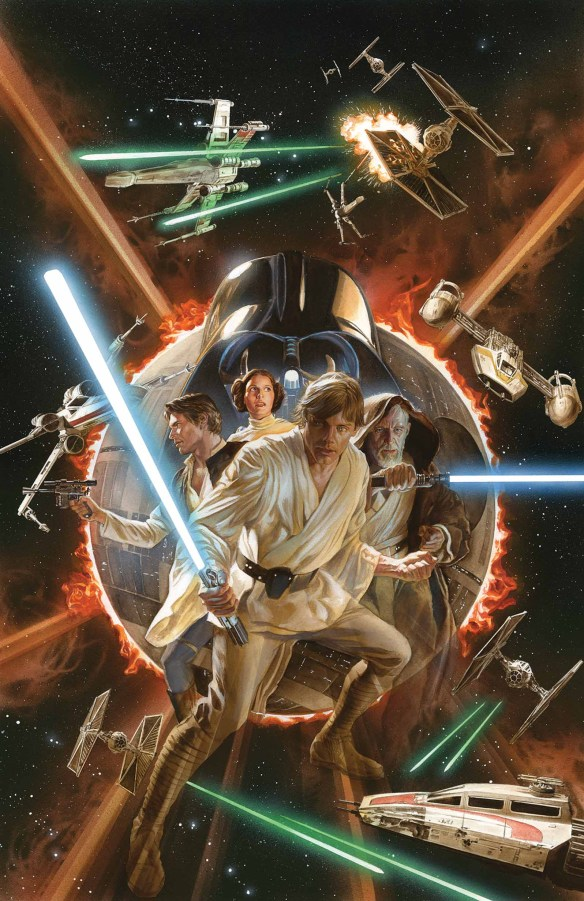 """Star Wars"" No. 1 variant cover illustrated by Alex Ross. (Image courtesy of Marvel Entertainment)"
