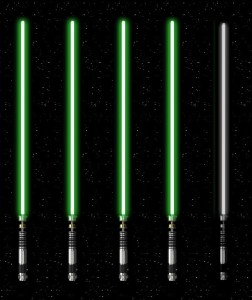 4 of 5 Lightsabers