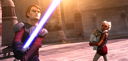 Anakin and Ashoka Clone Wars Theatrical