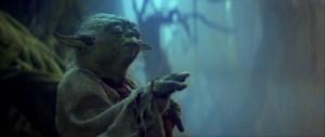 Yoda LIfting X-wing