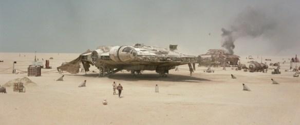 Millennium Falcon on Jakku