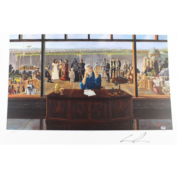 George Lucas Signed Limited Edition Star Wars 24x36 Lithograph (PSA/DNA Holo)