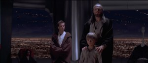 Qui-Gon brings Anakin before the Jedi Council