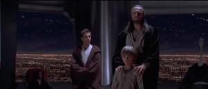 Qui-Gon brings Anakin before the Jedi Council