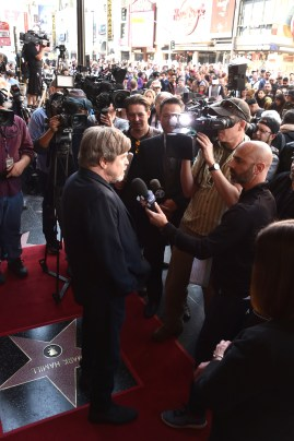HOLLYWOOD, CA - MARCH 08: Mark Hamill is honored with a star on the Hollywood Walk of Fame on March 8, 2018 at Hollywood Walk Of Fame in Hollywood, California. (Photo by Alberto E. Rodriguez/Getty Images for Disney) *** Local Caption *** Mark Hamill