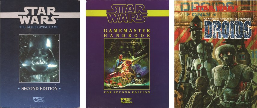 P34, West End Games, producers of the Star Wars roleplaying game, were one of the few companies offering Star Wars product in the 1980s.