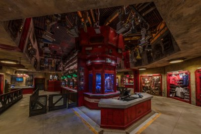 Exotic finds can be found throughout Star Wars: Galaxy's Edge at Disneyland Park in Anaheim, California, and at Disney's Hollywood Studios in Lake Buena Vista, Florida. In the Droid Depot at Star Wars: Galaxy's Edge, guests will be able to build their own personal droids. (Joshua Sudock/Disney Parks)