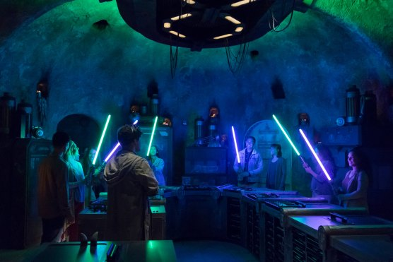 Disney guests will discover exotic finds throughout Star Wars: Galaxy's Edge at Disneyland Park in Anaheim, California, and at Disney's Hollywood Studios in Lake Buena Vista, Florida. At SaviÕs Workshop Ð Handbuilt Lightsabers, guests will have the opportunity to customize and craft their own lightsabers. In this exclusive experience, guests will feel like a Jedi as they build these elegant weapons from a more civilized age. (Joshua Sudock/Disney Parks)