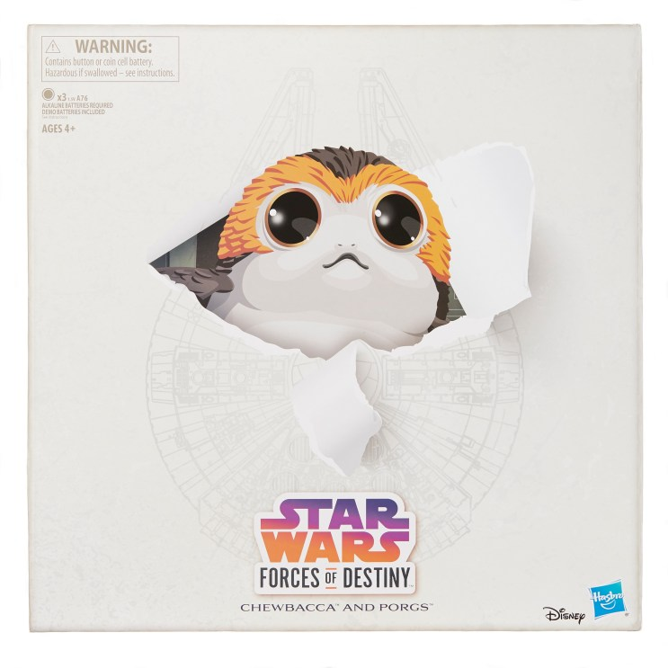 STAR WARS FORCES OF DESTINY CHEWBACCA AND PORGS - in pkg1 copy