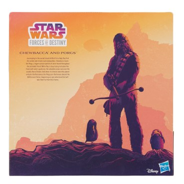 STAR WARS FORCES OF DESTINY CHEWBACCA AND PORGS - in pkg3 copy