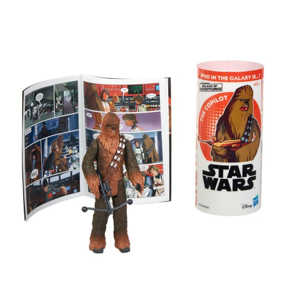 STAR WARS GALAXY OF ADVENTURES CHEWBACCA Figure and Mini Comic (2)