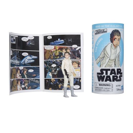 STAR WARS GALAXY OF ADVENTURES PRINCESS LEIA Figure and Mini Comic (2)