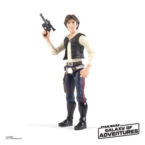 STAR WARS GALAXY OF ADVENTURES 5-INCH Figure Assortment - Han Solo (oop 1)