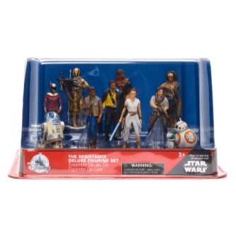 Star Wars: Rise Against Skywalker The Resistance Deluxe Figurine Set - $34.95 The Force will be felt with this Star Wars Deluxe Figurine Set. Featuring ten characters from Star Wars: Rise of Skywalker, this set will take imaginative play to a galaxy far, far away Available at shopDisney.com | Disney store.