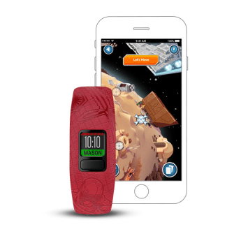 Dark Side vívofit jr. 2 - $69.99 Star Wars kids fitness tracker with interactive app experience.