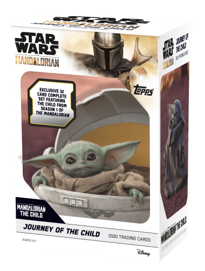 The Mandalorian: The Journey of the Childs From Topps 32 trading card set following the story of The Child as we learn more about this bounty target and his mysterious abilities. Available 4/8 at Target and Walmart.