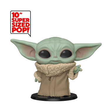 """The Child Super Sized 10"""" Pop! Vinyl Bobble Head Figure Embrace the irresistible infant referred to as ''The Child.'' Celebrate the most stellar fandom of them all with a Super Sized Pop! Vinyl Bobble Head figure inspired by Star Wars: The Mandalorian now streaming on Disney+. Available at: https://www.shopdisney.com/franchises/star-wars/?CMP=SYN-12-3-19-swcom-m-announcement"""