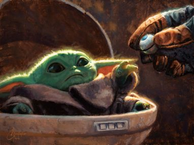 """""""An Unlikely Friend"""" Art by Christopher Clark Available now at ACME Archives: https://www.acmearchivesdirect.com/collections/star-wars-artwork/products/an-unlikely-friend-christopher-clark"""