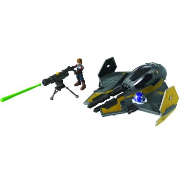 STAR WARS MISSION FLEET ANAKIN SKYWALKER JEDI STARFIGHTER Vehicle and Figure (HASBRO/Ages 4 years & up/Approx. Retail Price: $19.99/Available: Fall 2020) Blast off into a galaxy of adventure with the STAR WARS MISSION FLEET vehicles and figures! These fun vehicles and figures allow kids to imagine action-packed battles between the dark side and the light side of the Force. Boys and girls will love pretending to battle over imaginary rivers of flowing lava with the STAR WARS MISSION FLEET ANAKIN SKYWALKER JEDI STARFIGHTER Vehicle and Figure. Kids can pretend to blast their way onto Mustafar with a projectile launcher that can be attached to the vehicle at multiple points or mounted on the included tripod accessory. The included 2.5-inch-scale ANAKIN SKYWALKER figure features multiple points of articulation, with design and detail inspired by STAR WARS: REVENGE OF THE SITH. Includes vehicles, figure and 4 accessories. Available at most major retailers.
