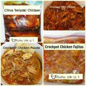 4 Easy Chicken Freezer Meals