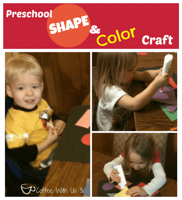 Preschool Shape and Color Craft by Coffee With Us 3