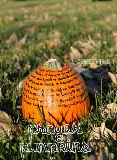 Prayer Pumpkins are a festive fall decor idea that helps kids remember to pray!