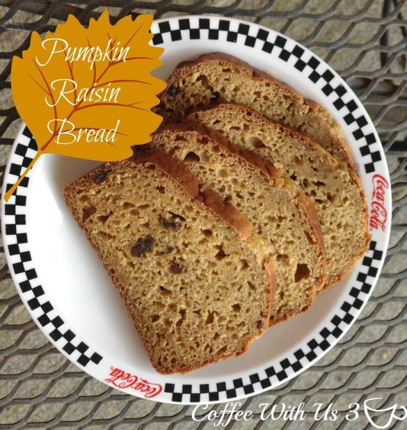 Pumpkin Raisin Bread made with Greek Yogurt